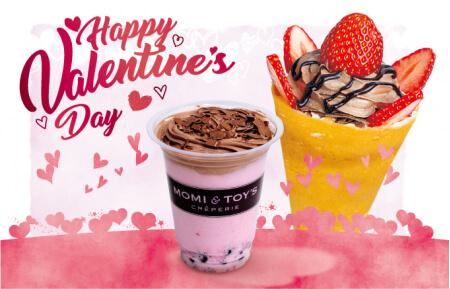 MOMI&TOY'S(モミアンドトイズ)からバレンタイン限定クレープ&タピオカが1月6日より発売!