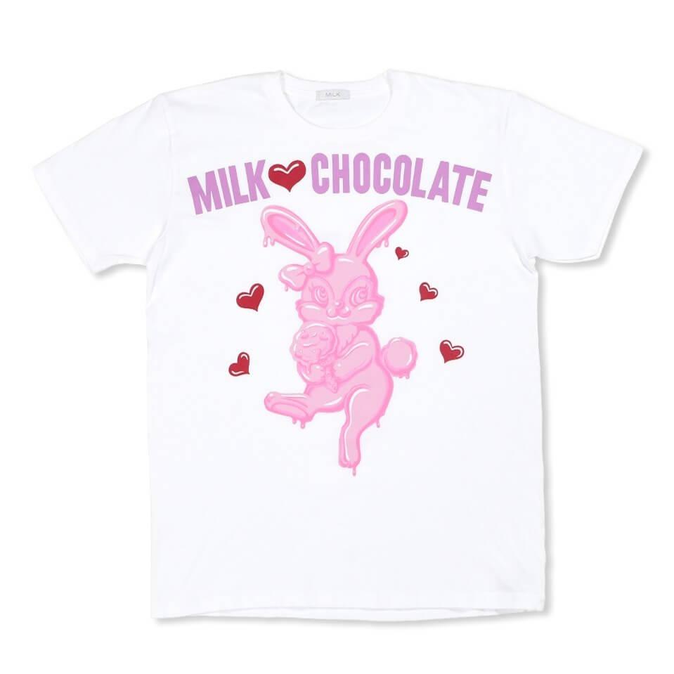 ミルクのとろけるチョコレートバニーTシャツ(白)