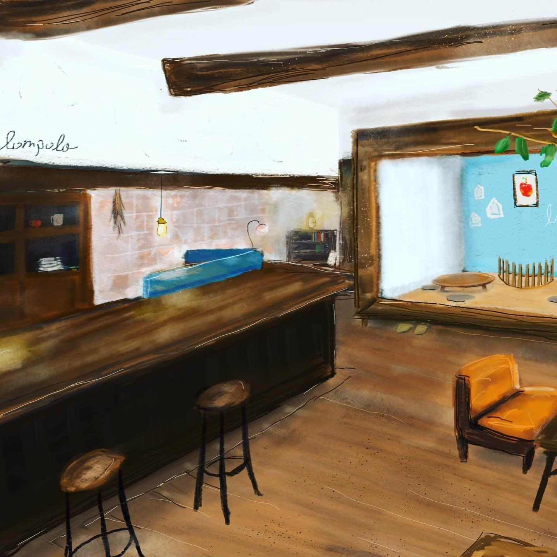 カフェ・ロンポロの店内イメージ図
