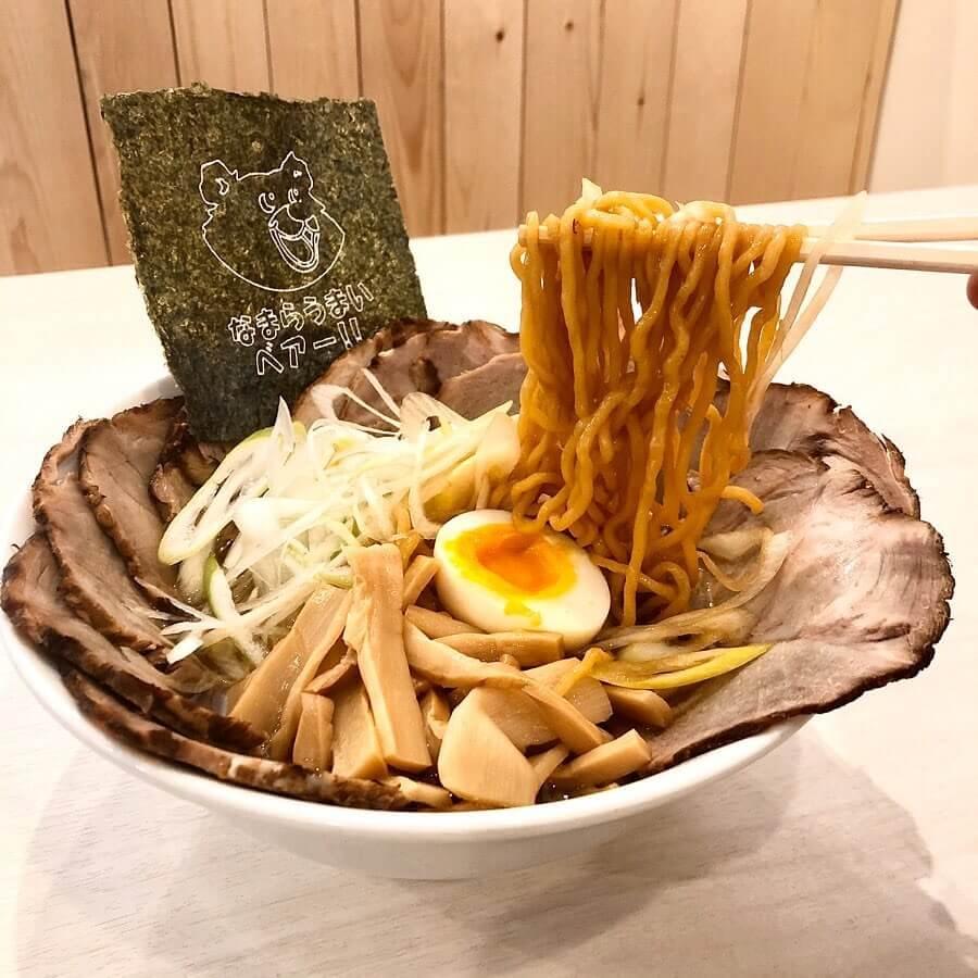 札幌らーめん熊吉の『倍増しチャーシュー麺』の麺