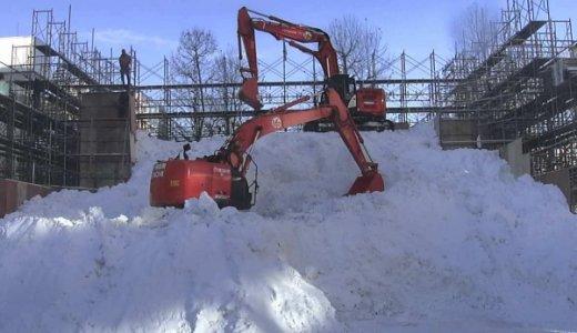 初の試み!さっぽろ雪まつり STV広場の大雪像制作の一部始終を24時間ライブ配信中!