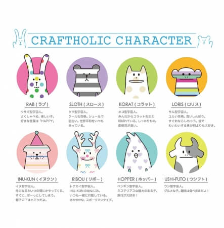CRAFTHOLICのキャラクターたち