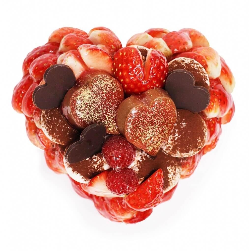 カフェコムサの「恋みのり」いちごとチョコレートムースのケーキ