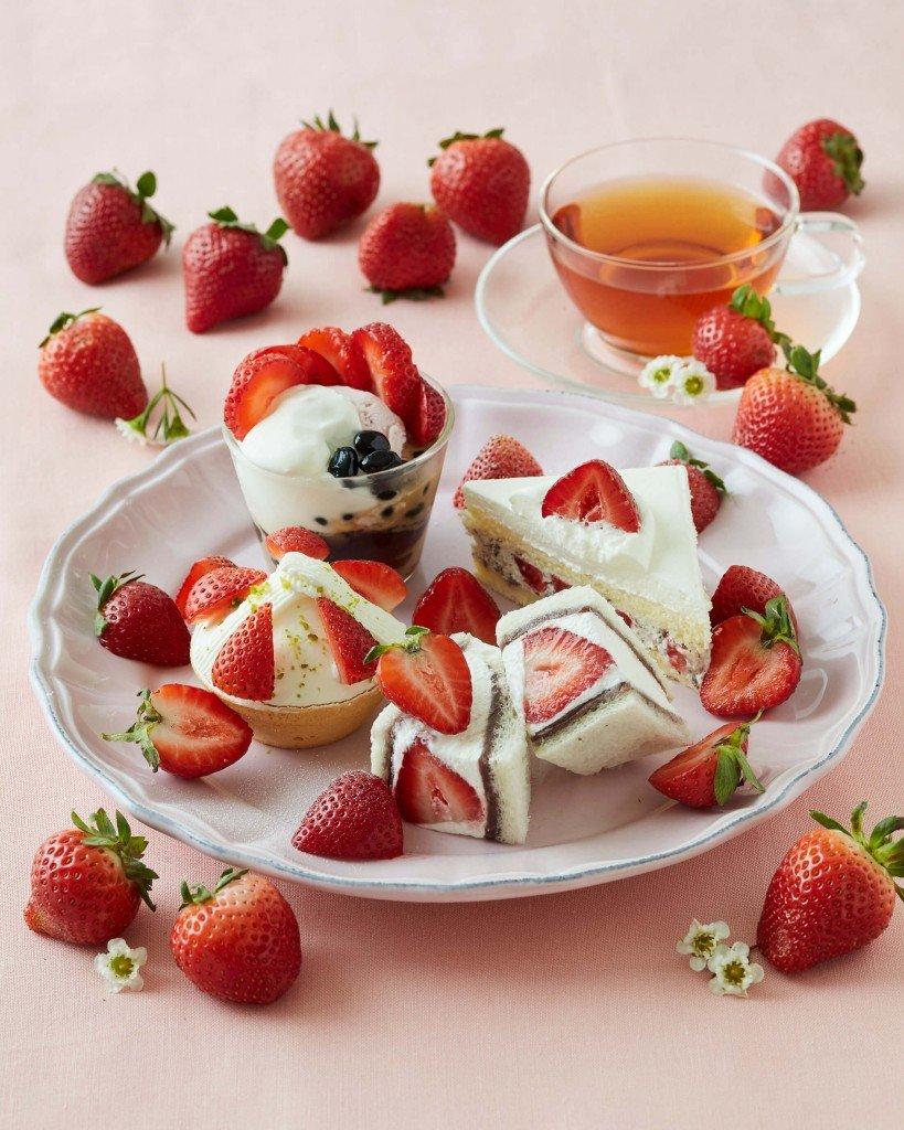 アフターヌーン ティールームの1月15日限定「苺3倍!苺のアフタヌーンティーセット」