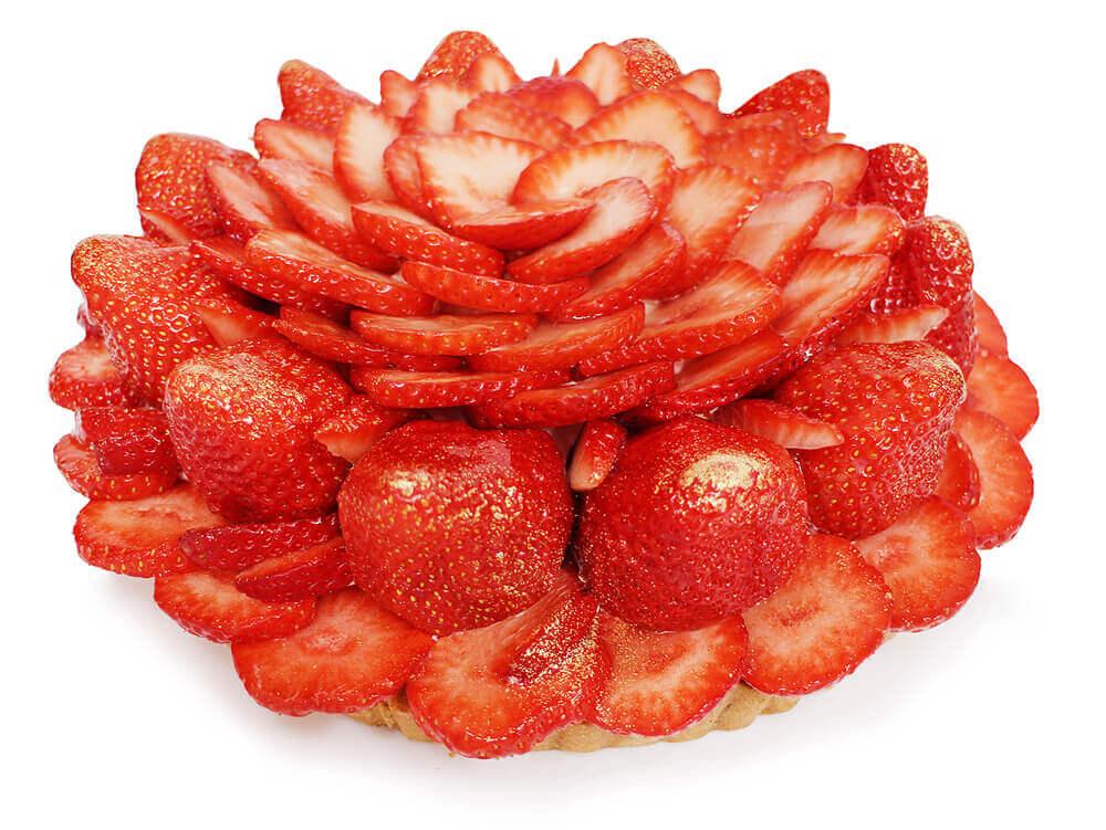 カフェコムサの福岡県産「あまおう」いちごのケーキ:1,300円/1ピース
