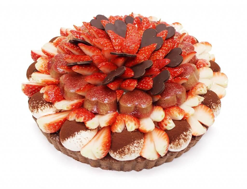 カフェコムサの「恋みのり」いちごとチョコレートムースのケーキ(ピース販売用)