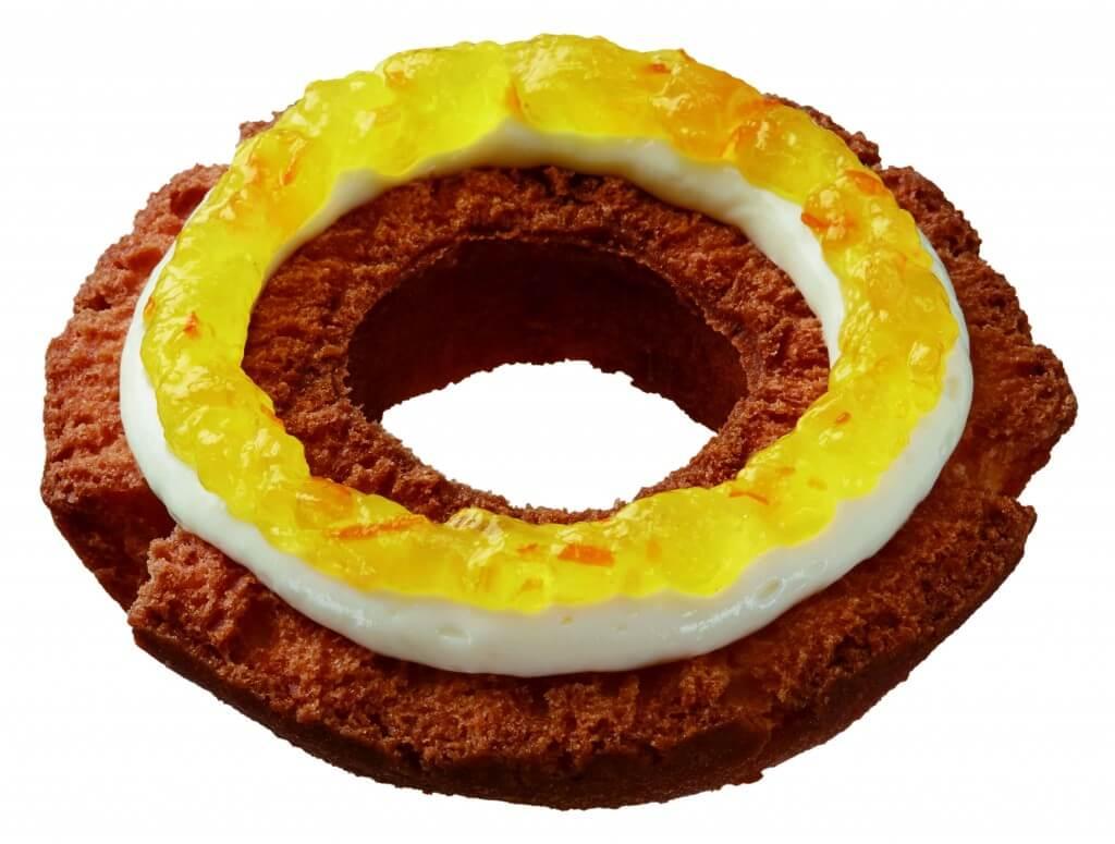 ミスタードーナツのサティーヌファッション(オレンジ&パッションフルーツ&チーズクリーム)