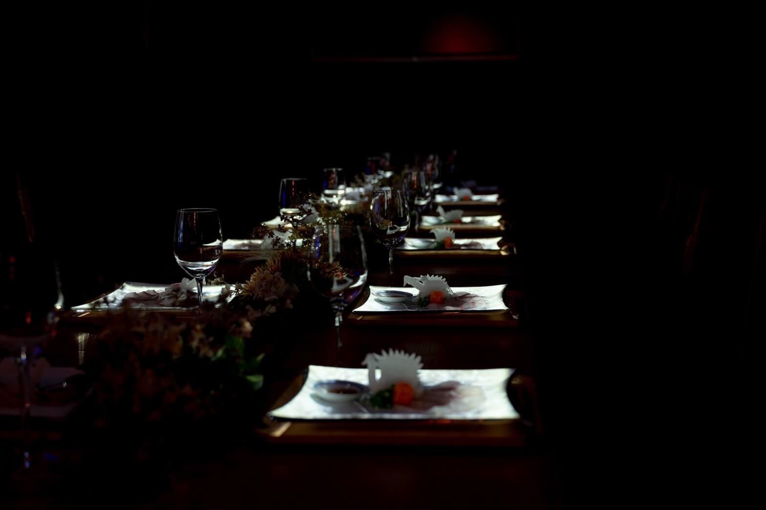 雪灯りのレストランの料理
