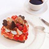 カフェコムサのバレンタイン限定ケーキ!パティシエが選び抜いたいちご「恋みのり」をふんだんに使用!