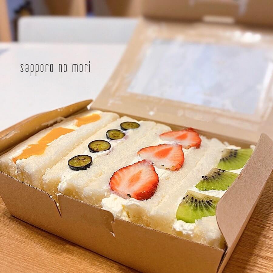 サンドイッチとベイクドポテトのお店 札幌の森のフルーツサンド