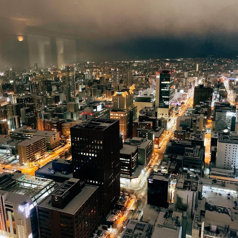 JRタワー展望室T38からの景色(夜)
