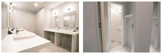シアテル札幌すすきののWASH ROOMとSHOWER ROOM