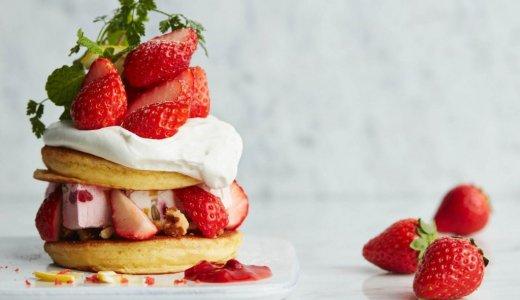 J.S. パンケーキカフェがストロベリーフェアを開催!期間限定のアイスパンケーキも提供するぞっ!