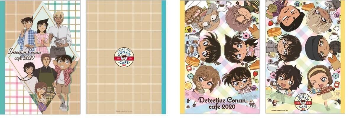 名探偵コナンカフェ 2020のB5ノート 2種 (等身/ミニキャラ) 各420円