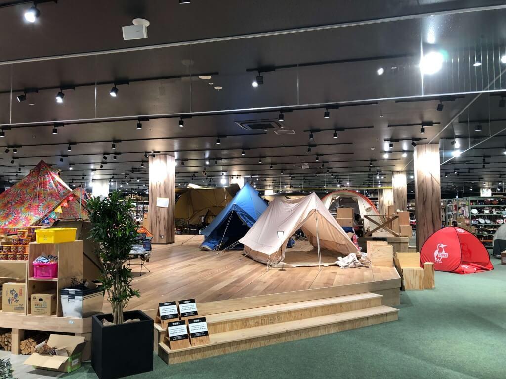 アルペンアウトドアーズ フラッグシップストア 札幌発寒店の店内