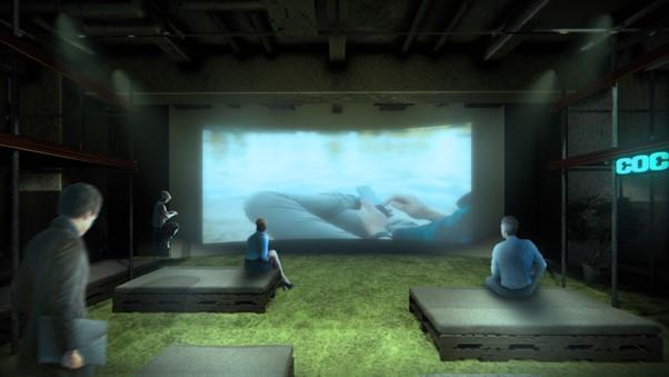 シアテル札幌すすきの縦3m横8mの巨大スクリーン(イメージ)