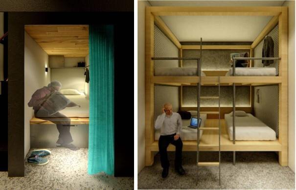 シアテル札幌すすきのシングルカプセルルームとプライベートルーム(イメージ)