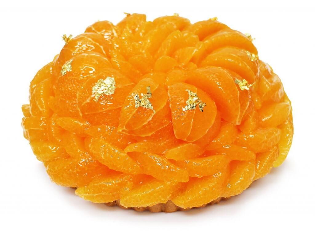 カフェコムサの『愛媛県 宇和島 西谷農園産「清見オレンジ」のケーキ』
