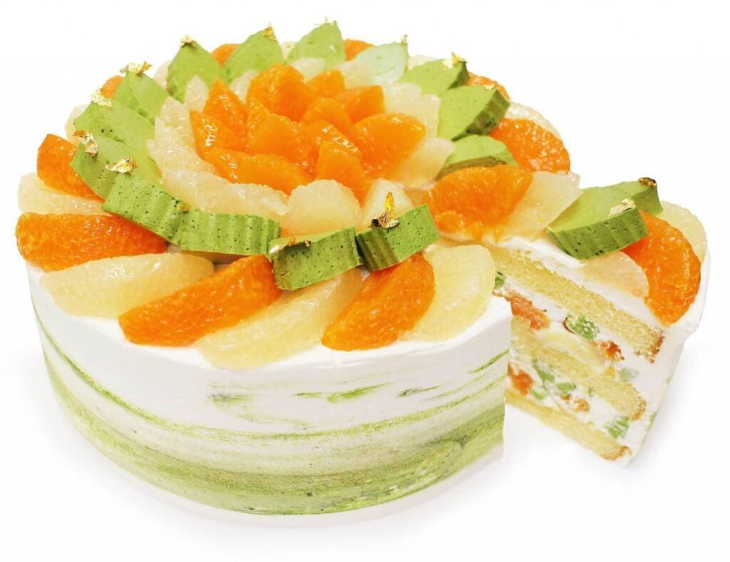 カフェコムサの『愛媛県 宇和島 山内農園産「宇和ゴールド」と「せとか」のショートケーキ』