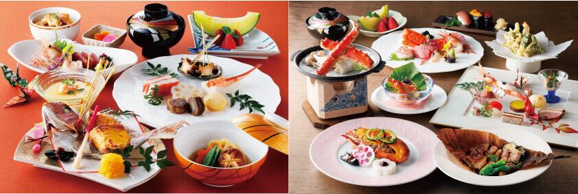 和食 からまつの左:昼メニュー 右:夜メニュー