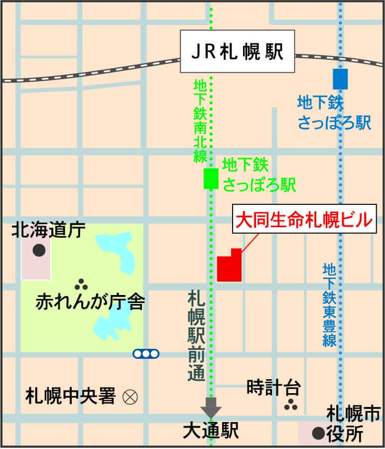 大同生命札幌ビル miredoの地図