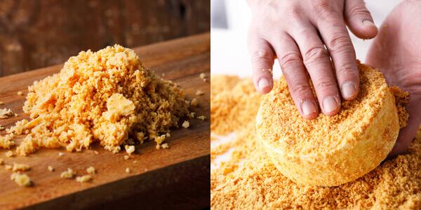 ルタオ『ジャポネ フロマージュ』ケーキにまとわせたクッキーパイクラム
