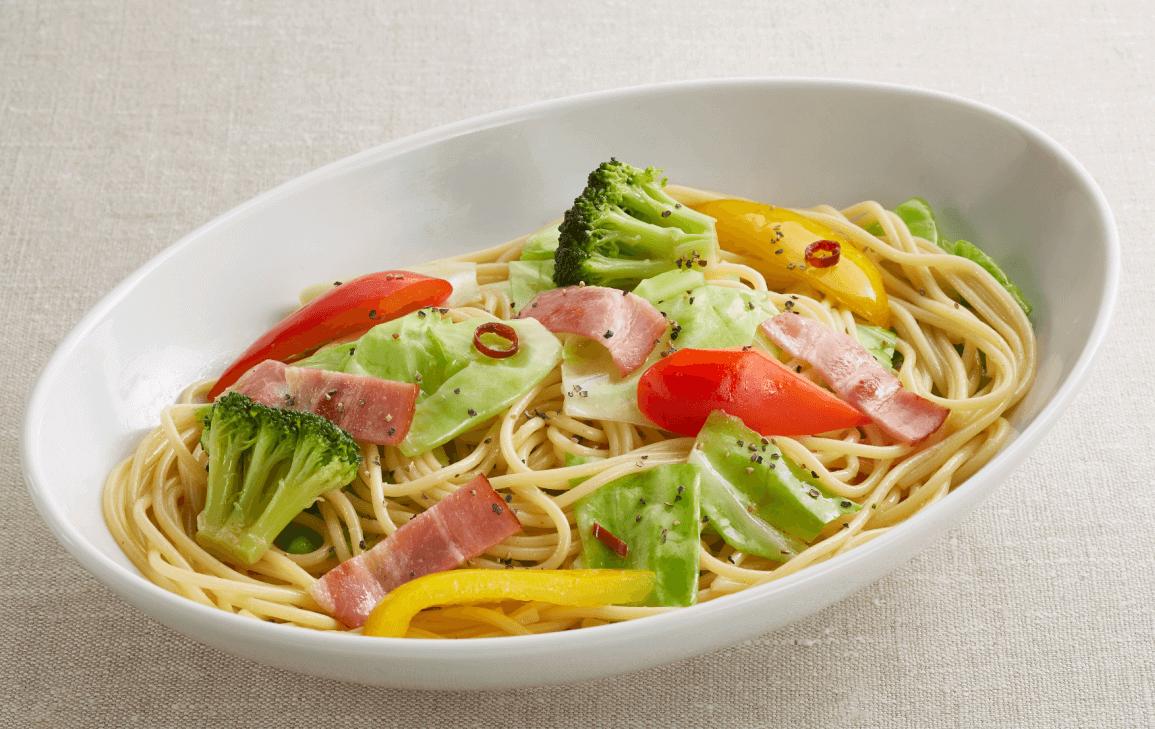 ジョイフルの『彩り野菜のペペロンチーノ ¥599(税込¥658)』
