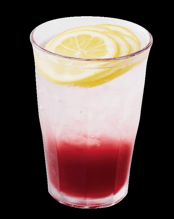 フレッシュネスバーガーのレモン&クランベリーソーダ