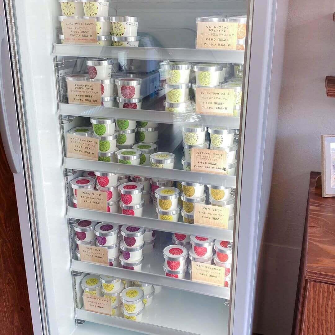 フロコン ド ネージュで販売しているカップアイス
