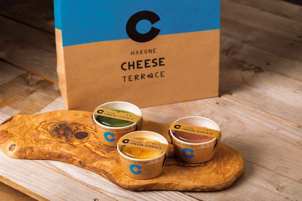 『箱根チーズテラス』のバスクチーズケーキセット