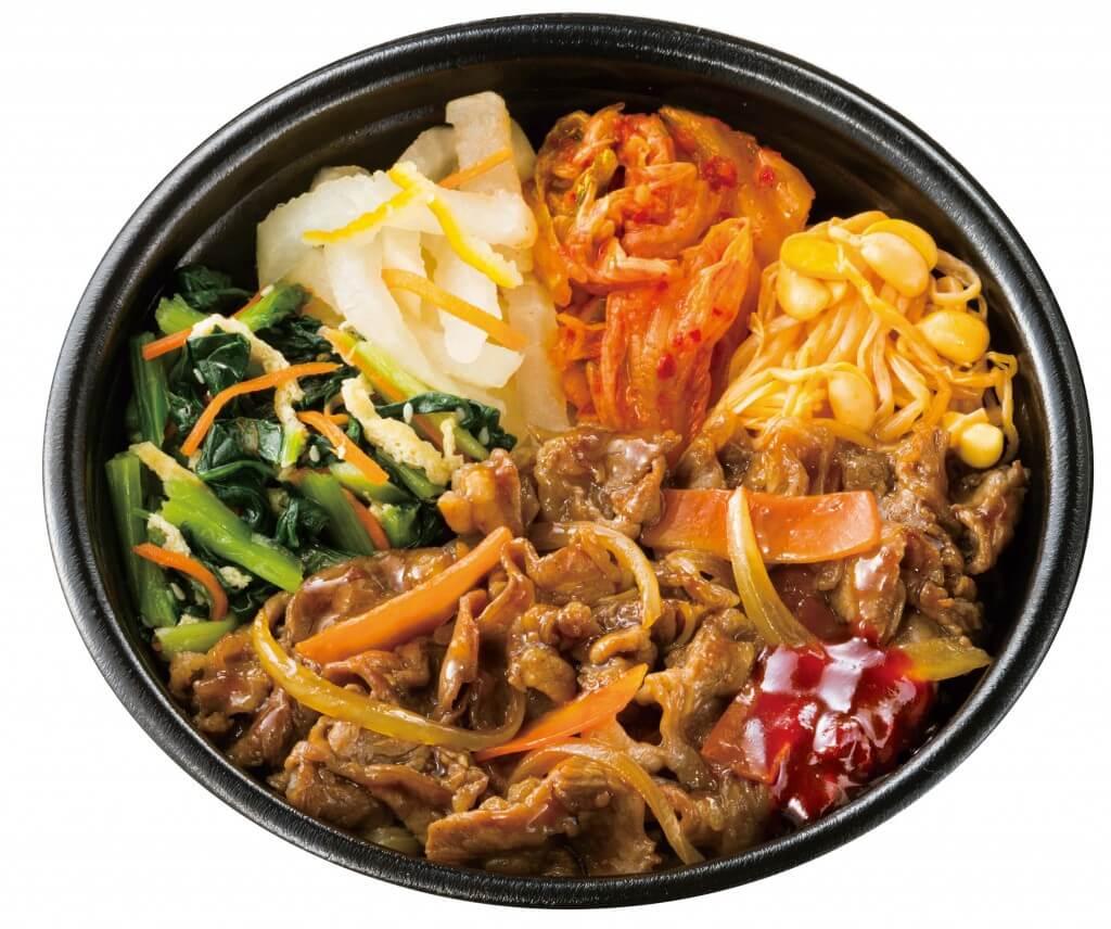 Hotto Motto(ほっともっと)の野菜が摂れる肉増しビビンバ(半熟たまごなし)