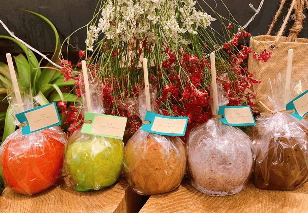 ワタシノマルシェのりんご飴