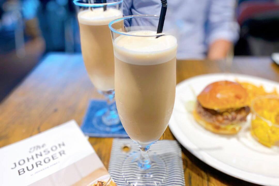 ザ・ジョンソンバーガーの『バーガー』・『ドラフトアイスコーヒー』