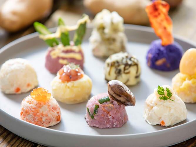 星野リゾート トマムの『ポテサラジェラート』-ポテサラジェラート10種類の食べ比べセット