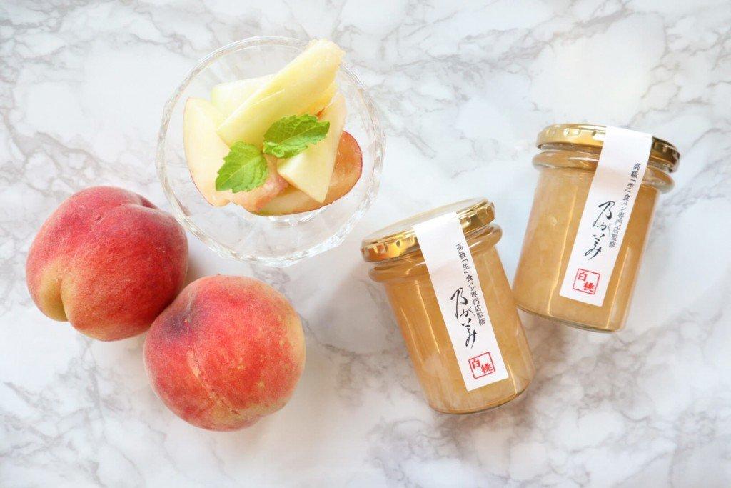 高級「生」食パン専門店 乃が美の『白桃ジャム』