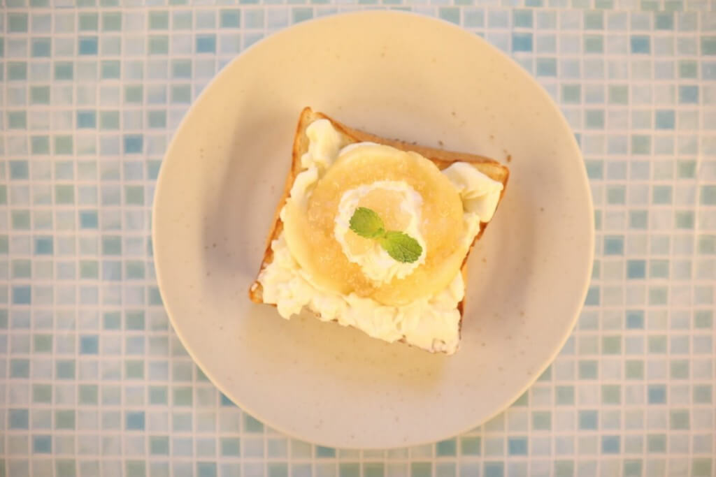 高級「生」食パン専門店 乃が美の『白桃ジャム』を使ったアレンジレシピ