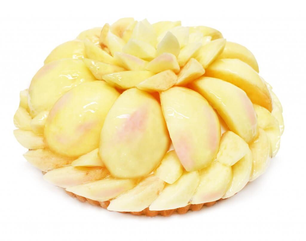 カフェコムサの山梨県笛吹産「富士山の彩」のケーキ