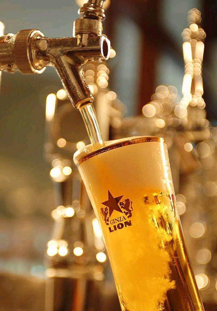 銀座ライオンの生ビール
