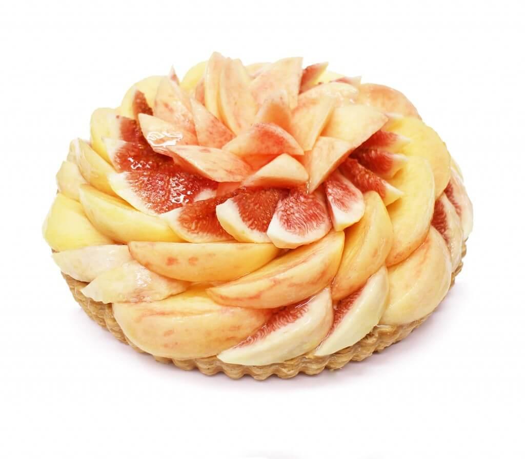 カフェコムサの桃といちじくのケーキ