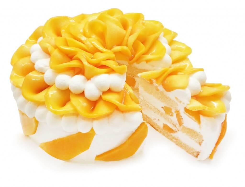 カフェコムサの沖縄県産「完熟マンゴー」のショートケーキ