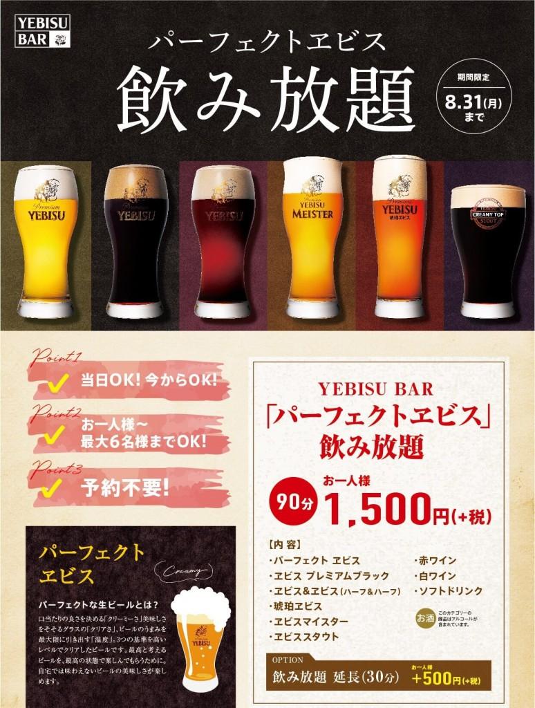 銀座ライオン【パーフェクトヱビス】パーフェクトな生ビールとは?
