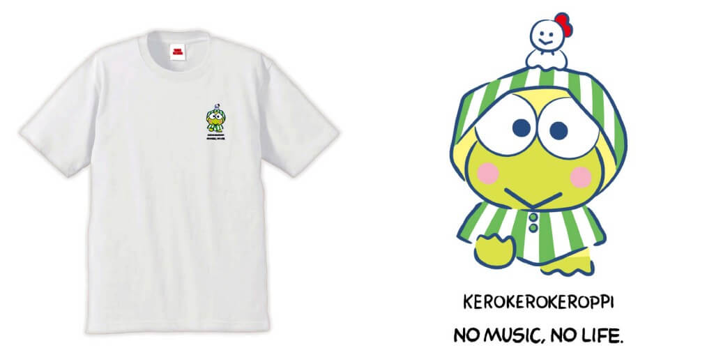 タワーレコード×はぴだんぶい『T-shirts ホワイト けろけろけろっぴ』
