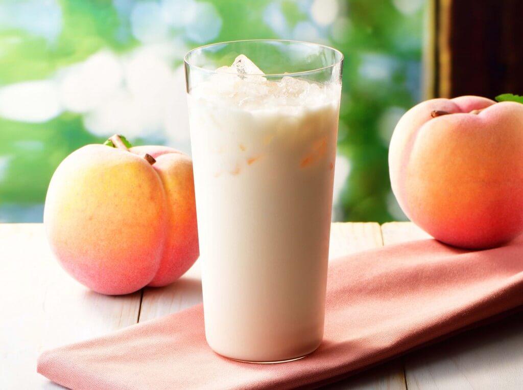 カフェ・ド・クリエの『爽やか国産白桃のラッシー』