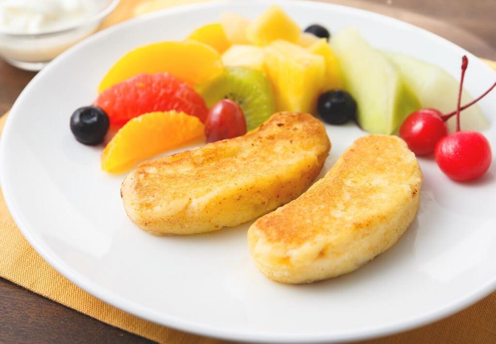 東京ばな奈「⾒ぃつけたっ」のアレンジレシピ『フレンチトースト風東京ばな奈』