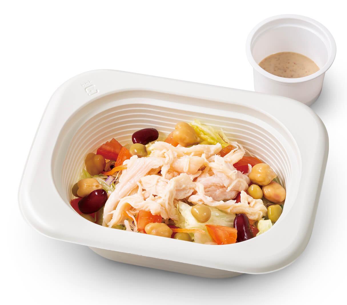 ガストの『サラダチキンと3種豆のサラダ』