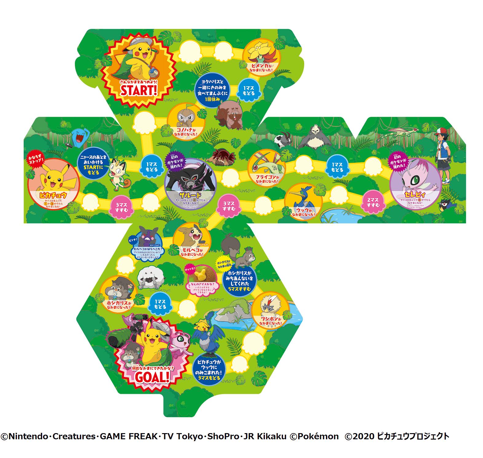 サーティワン アイスクリーム『31ポケ夏!キャンペーン~with 劇場版ポケットモンスター ココ』(BOXを広げるとすごろくに!)