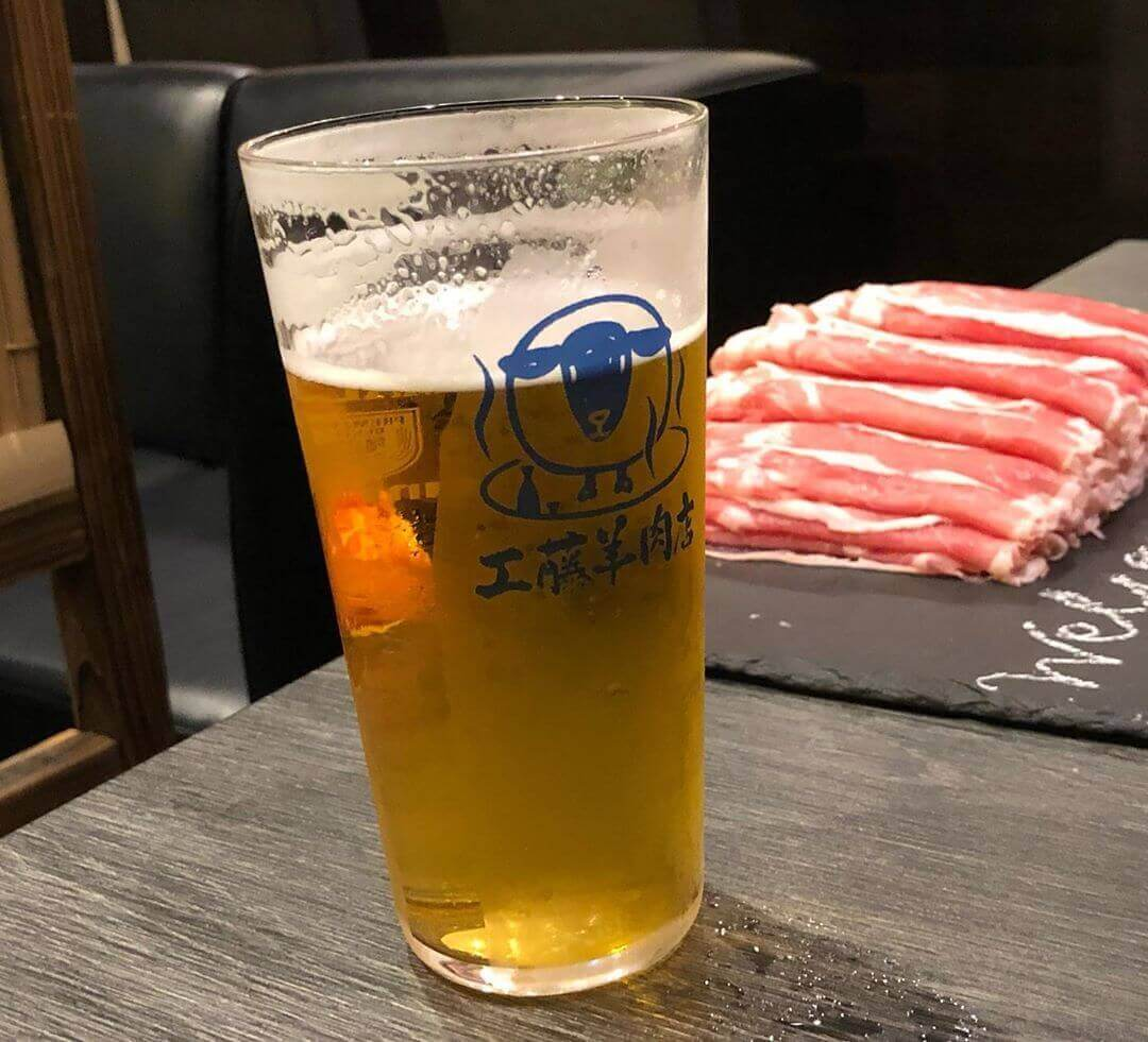工藤羊肉店のビール