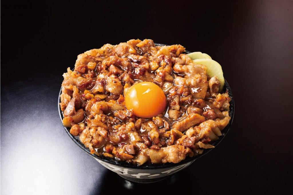 """すた丼の『""""肉汁油""""大爆発すた丼』"""