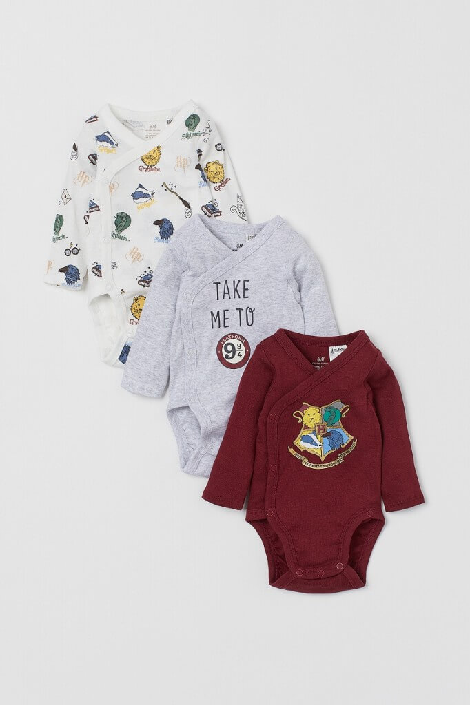 H&M『ハリー・ポッター』カプセルコレクション-(ベビー)ボディスーツ3枚セット¥1,999