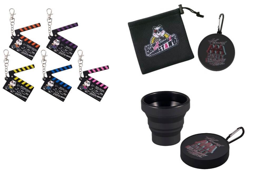 THANX AAA PARTY ~15th AnniversAry stAnd~の『MOVIEキーホルダー(全5種 ランダム)、ポーチ付き折りたたみコップ』